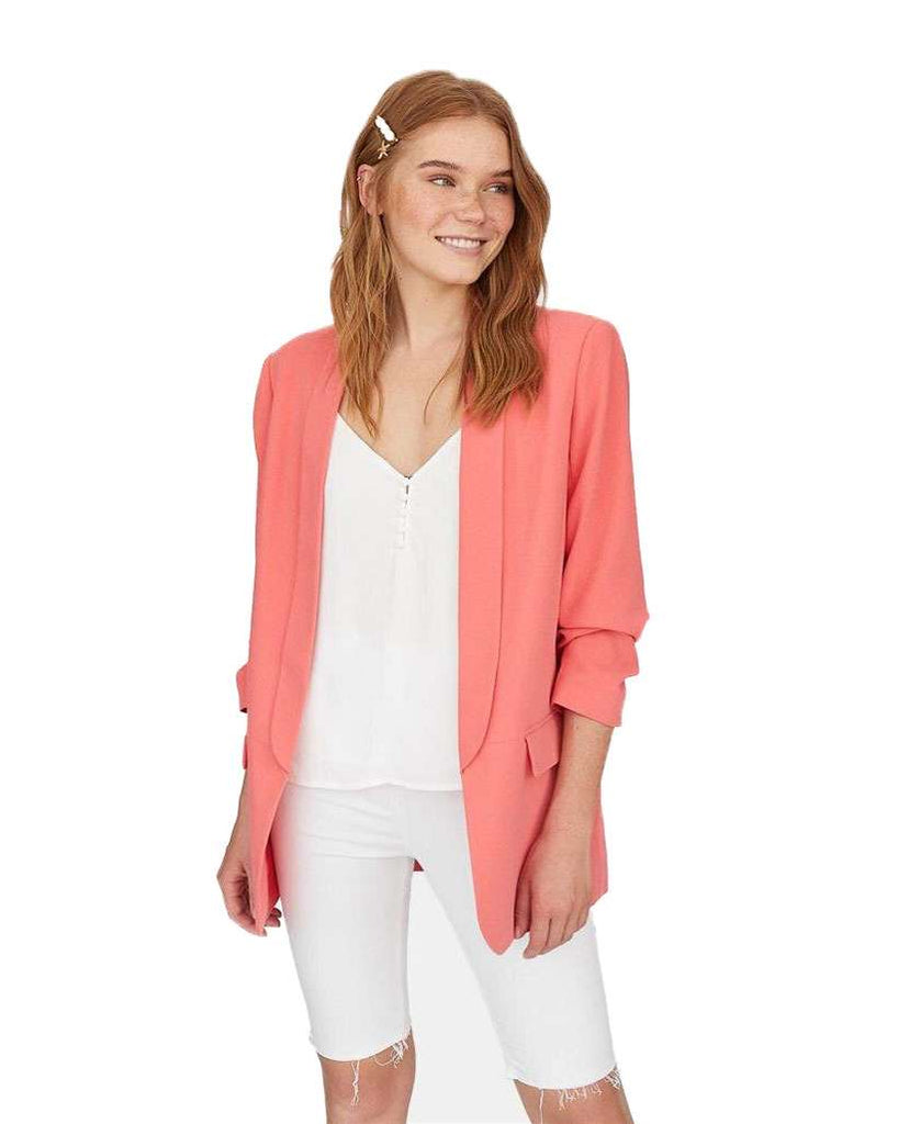 Women's Flip Leader Fold Thin Casual Jacket -Shop Electronics, Fashion, Beauty, Home & Garden & More @Nesavastore
