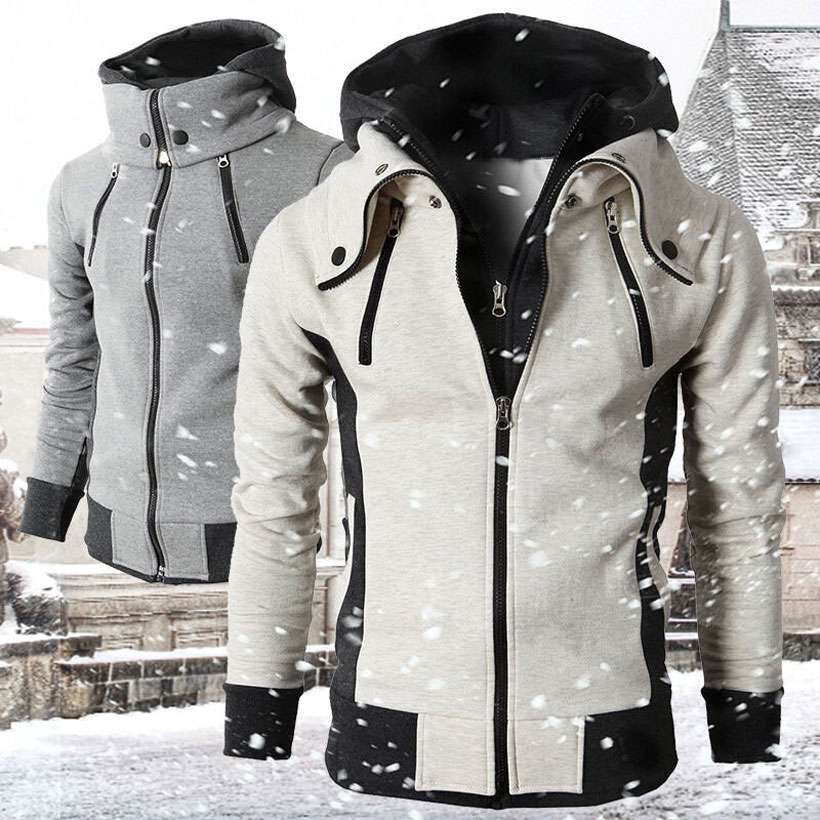 Men's Fleece Coats Slim Fit Jacket - Shop Electronics, Fashion, Beauty, Home & Garden & More @Nesavastore