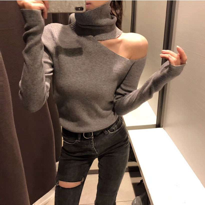 Women's Knitted Off Shoulder Pullovers Sweaters - Shop Electronics, Fashion, Beauty, Home & Garden & More @Nesavastore