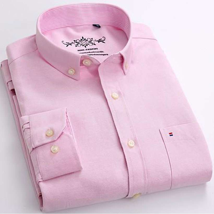 Men's Long Sleeve Solid Oxford Casual Shirt- Shop Electronics, Fashion, Beauty, Home & Garden & More @Nesavastore