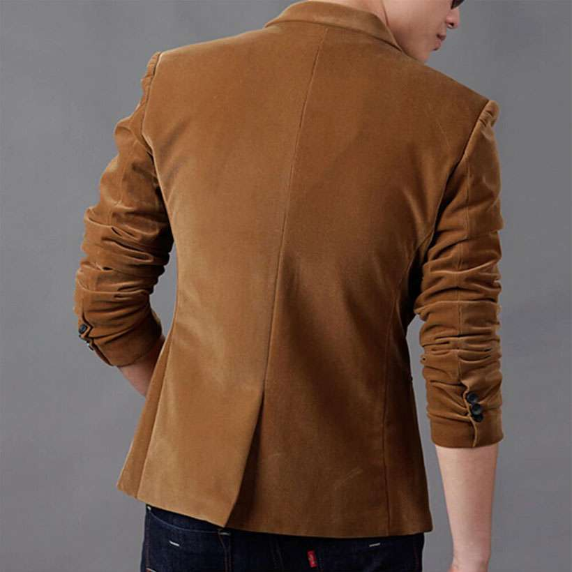 Men's Luxury High-Quality Cotton Slim Fit Blazer - Shop Electronics, Fashion, Beauty, Home & Garden & More @Nesavastore