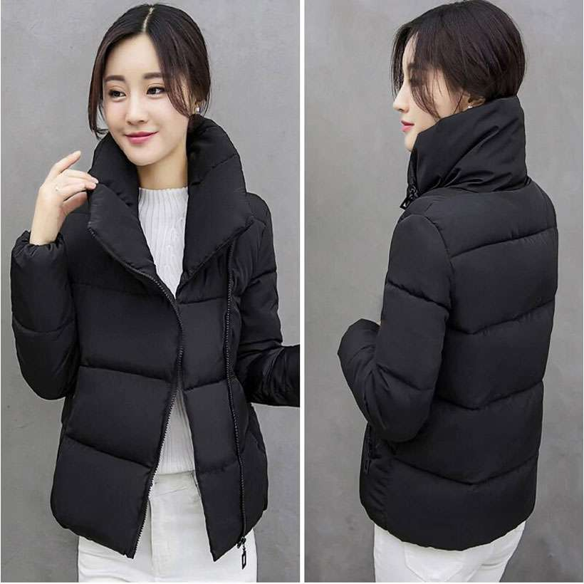 Women's Stand Collar Winter Solid Stylish Jackets - Shop Electronics, Fashion, Beauty, Home & Garden & More @Nesavastore
