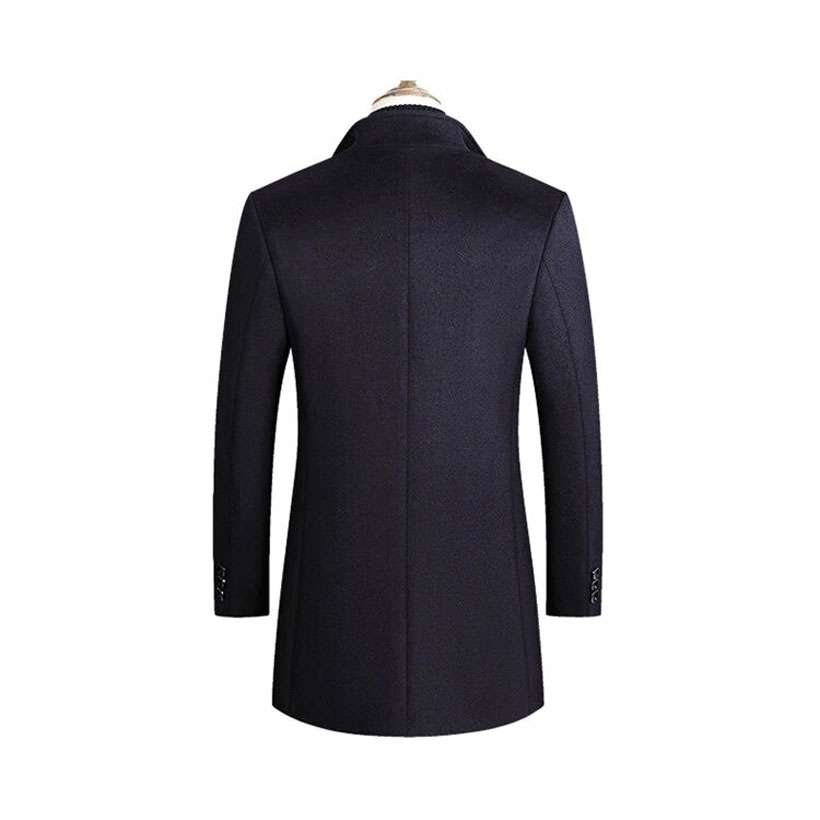 Men's Blends Coats Solid Color Wool Jacket - Shop Electronics, Fashion, Beauty, Home & Garden & More @Nesavastore
