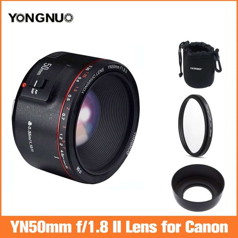 Auto Focus Lens YN50mm F1.8 II Large Aperture for Canon - Shop Electronics, Fashion, Beauty, Home & Garden & More @Nesavastore