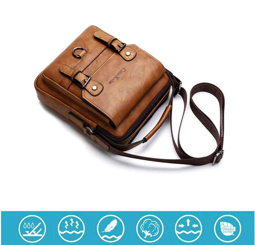 Men's Multi-function Leather Shoulder Bags - Shop Electronics, Fashion, Beauty, Home & Garden & More @Nesavastore
