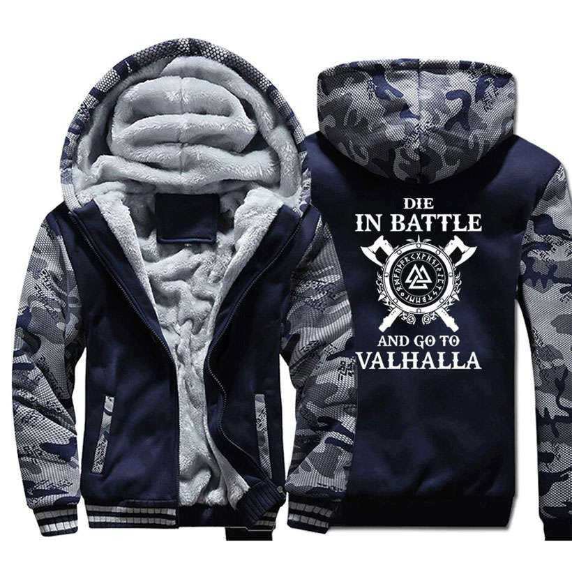 Men's Coat Warm Odin Vikings Hoodies - Shop Electronics, Fashion, Beauty, Home & Garden & More @Nesavastore