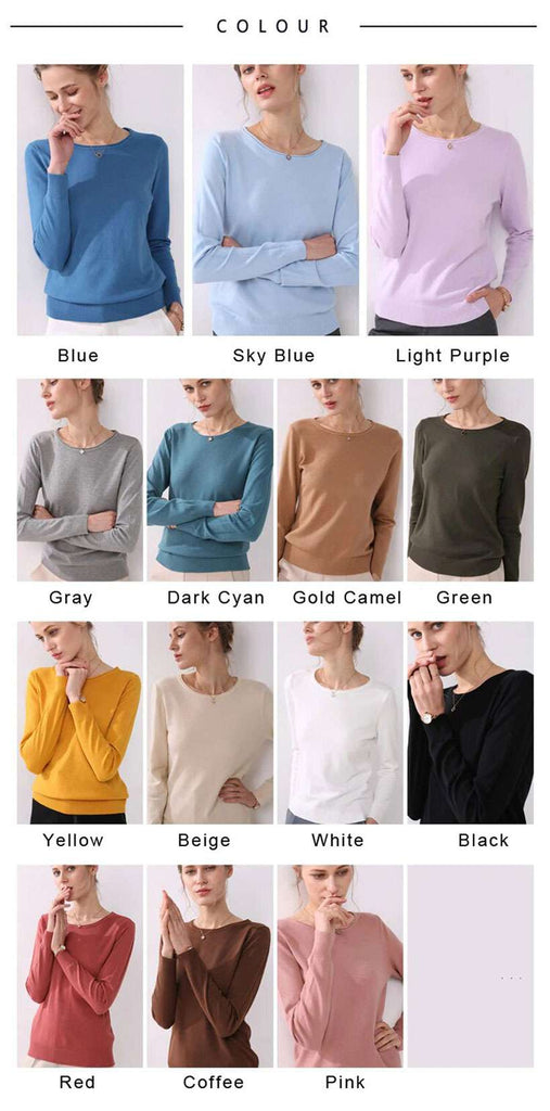 Women's Knitting Long Curled O-neck Sweaters - Shop Electronics, Fashion, Beauty, Home & Garden & More @Nesavastore