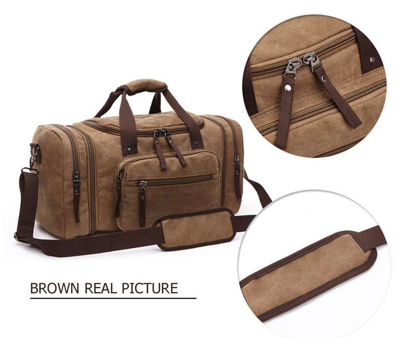 Canvas Large Capacity Carry On Duffel Bag - Shop Electronics, Fashion, Beauty, Home & Garden & More @Nesavastore