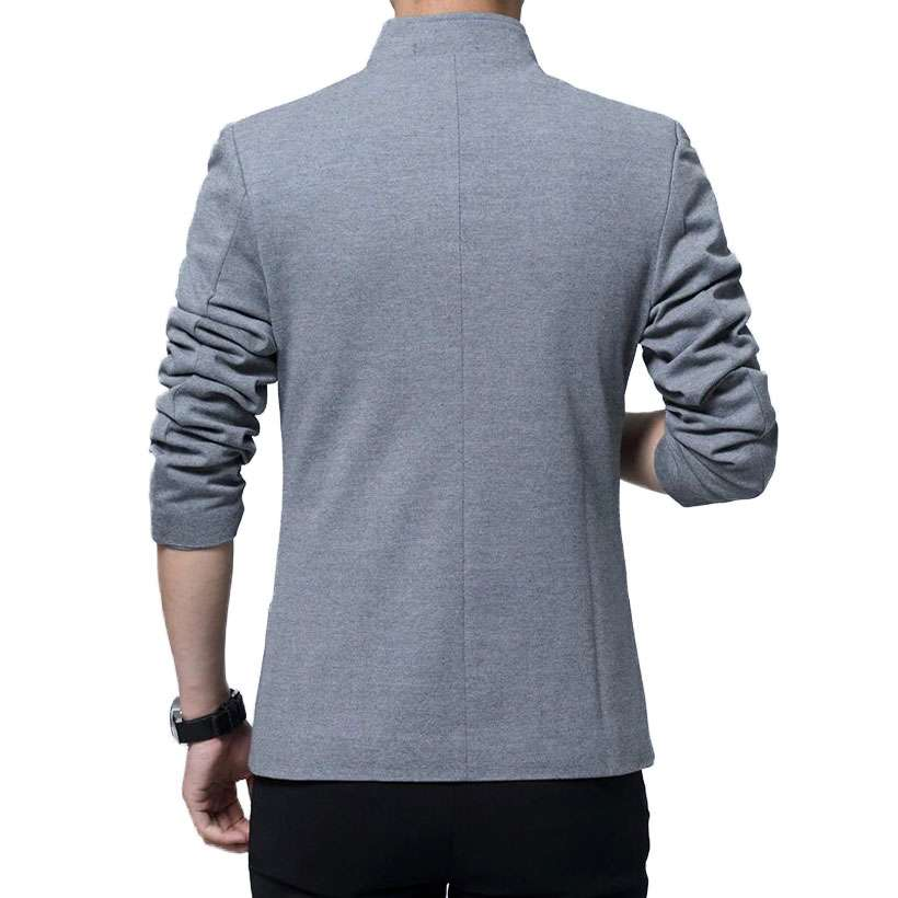 Men's Stand Collar Slim Fit Blazer - Shop Electronics, Fashion, Beauty, Home & Garden & More @Nesavastore