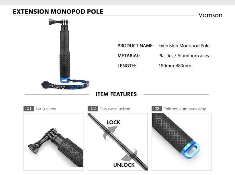 Vamson Waterproof Accessories Set For GoPro - Shop Electronics, Fashion, Beauty, Home & Garden & More @Nesavastore
