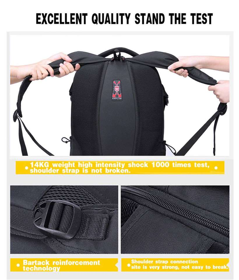 Unisex Waterproof Swiss Phone Charger Backpack-Shop Electronics, Fashion, Beauty, Home & Garden & More @Nesavastore