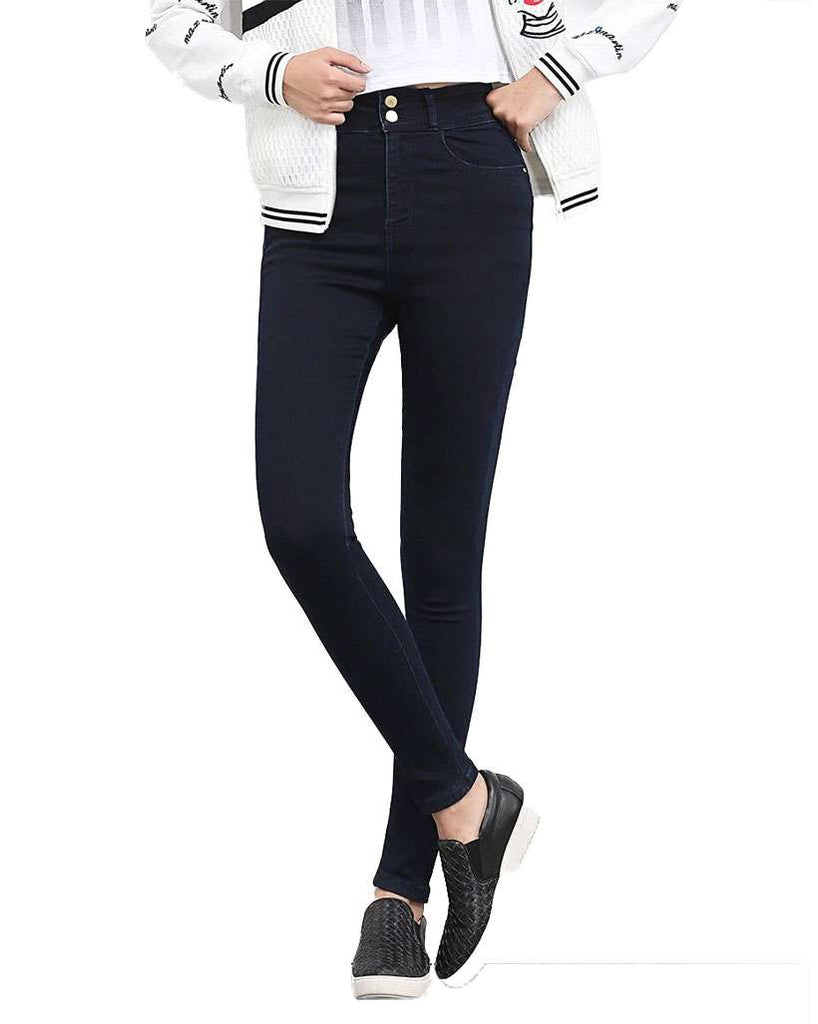 Women Plus Size Button Fly High Waist Jeans - Shop Electronics, Fashion, Beauty, Home & Garden & More @Nesavastore