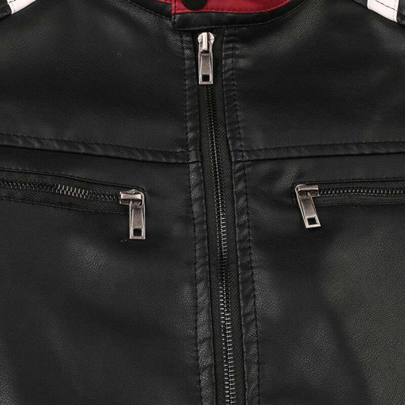 Men's Motorcycle Slim Leather Jacket - Shop Electronics, Fashion, Beauty, Home & Garden & More @Nesavastore
