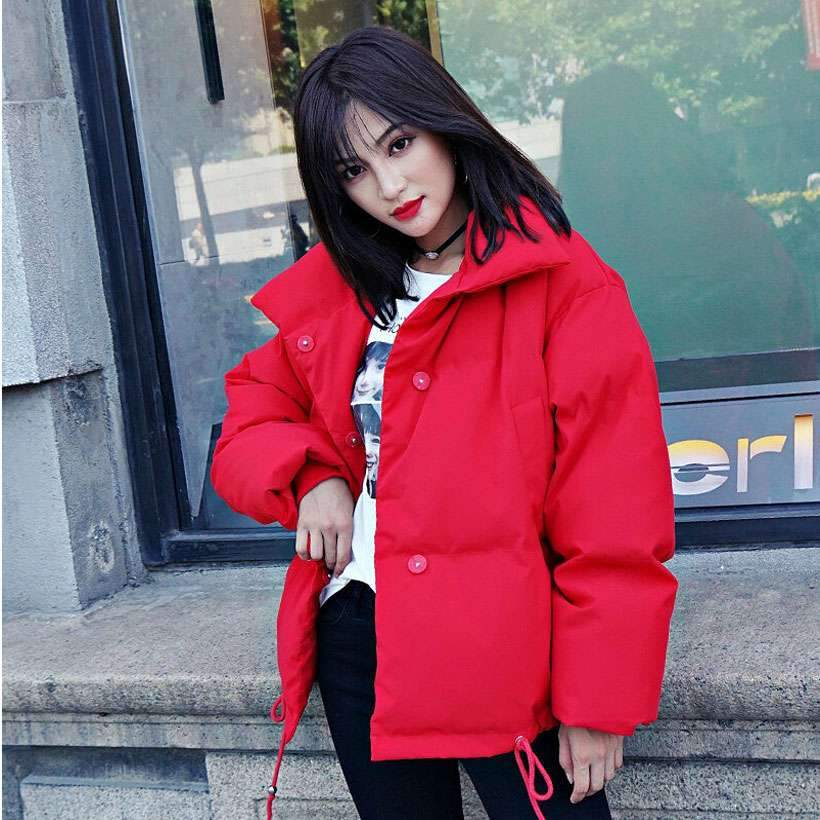 Women Korean Style Collar Down Coat Loose Jacket - Shop Electronics, Fashion, Beauty, Home & Garden & More @Nesavastore