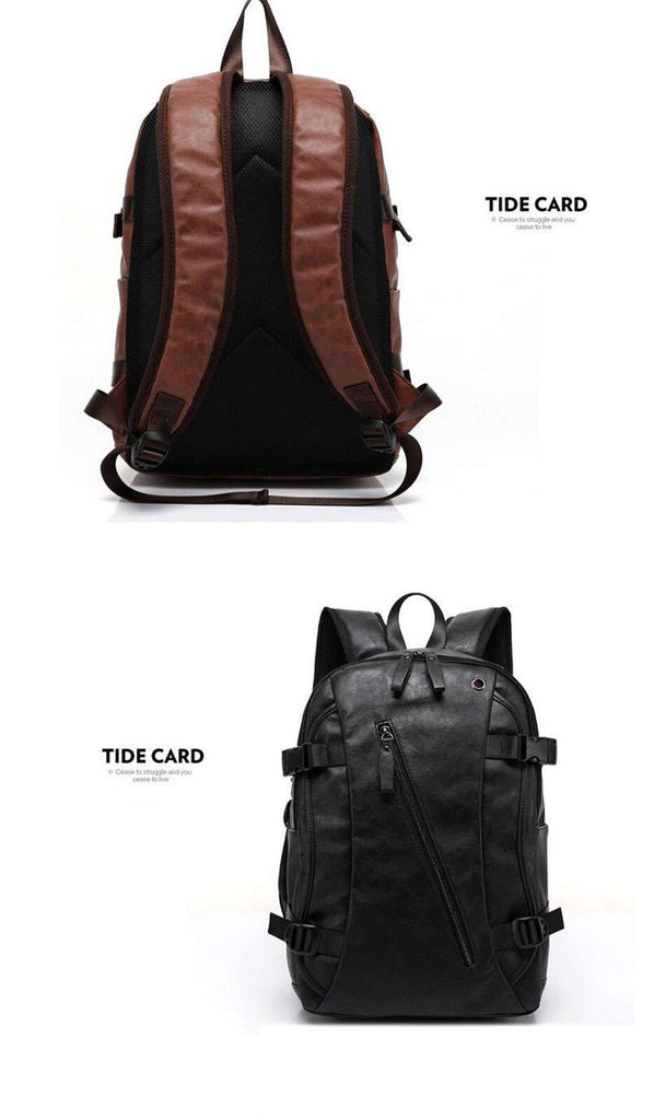Men's Oil Wax Leather Casual Backpack - Shop Electronics, Fashion, Beauty, Home & Garden & More @Nesavastore