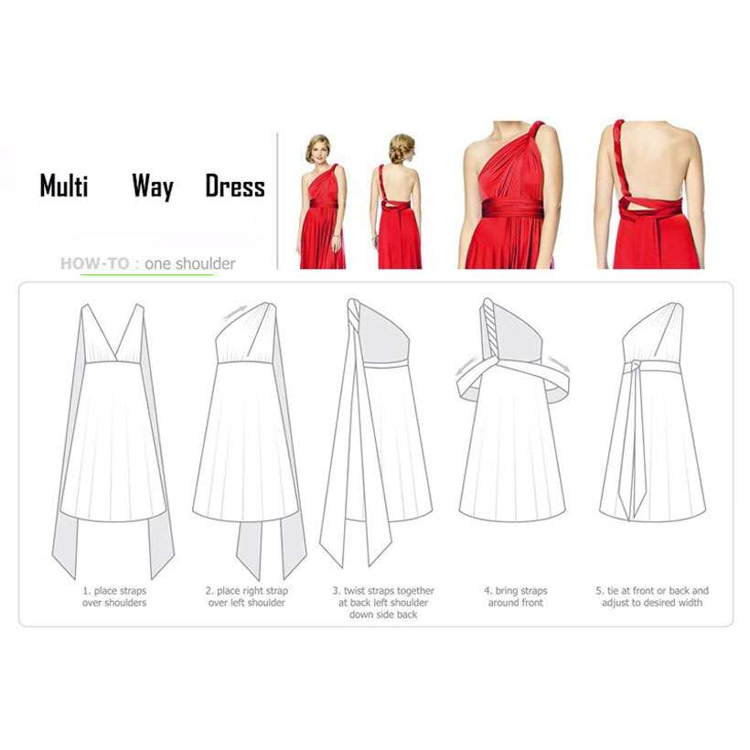 Women Sexy Formal Convertible Dresses - Shop Electronics, Fashion, Beauty, Home & Garden & More @Nesavastore