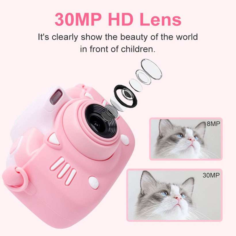 Children Camera 30MP HD Video Selfie Photo - Shop Electronics, Fashion, Beauty, Home & Garden & More @Nesavastore