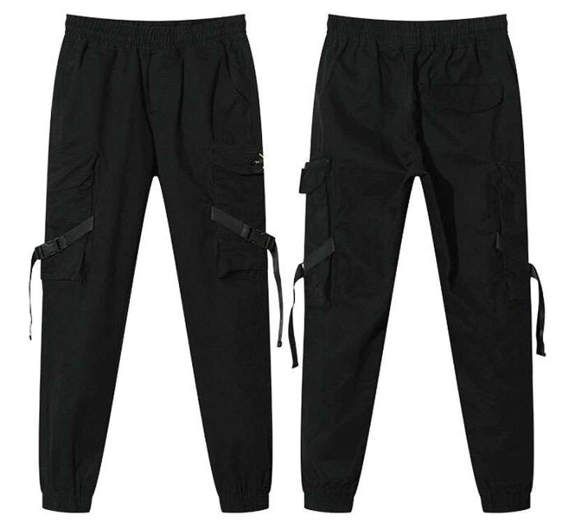 Men's Streetwear Ribbons Cotton Slim Joggers - Shop Electronics, Fashion, Beauty, Home & Garden & More @Nesavastore