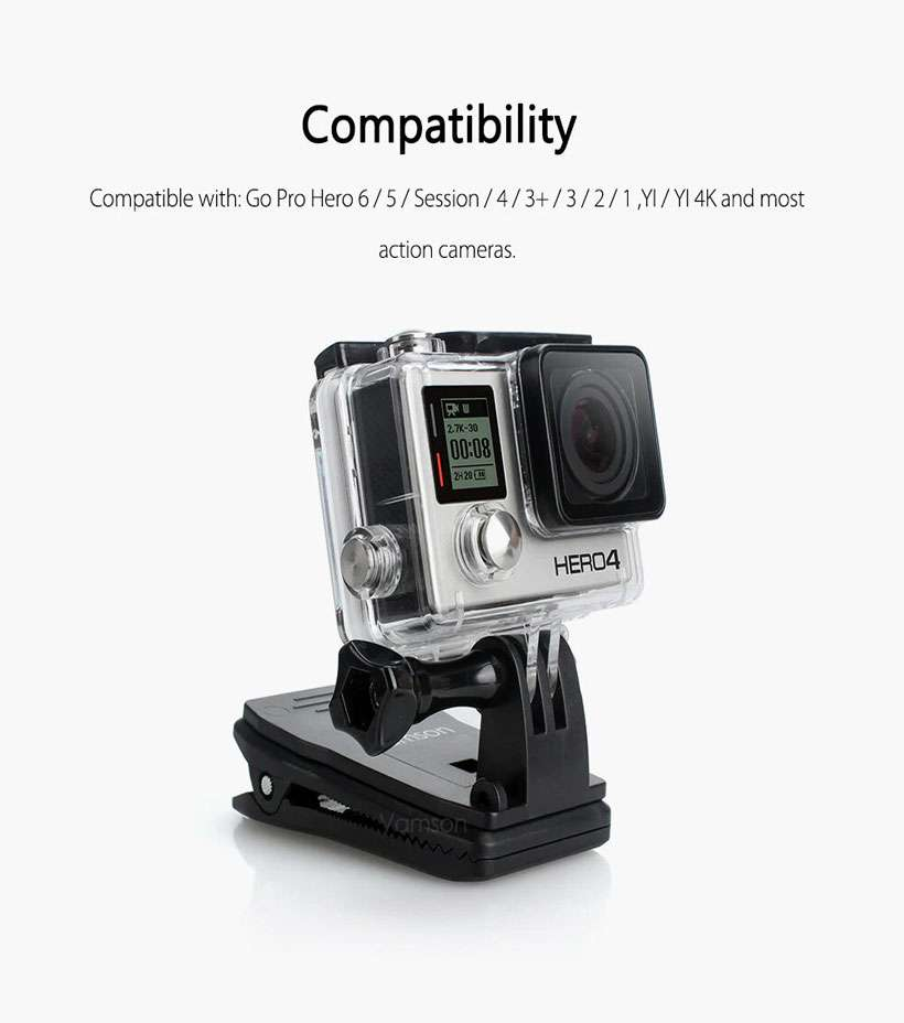 Vamson Backpack Clip Clamp Mount For GoPro - Shop Electronics, Fashion, Beauty, Home & Garden & More @Nesavastore