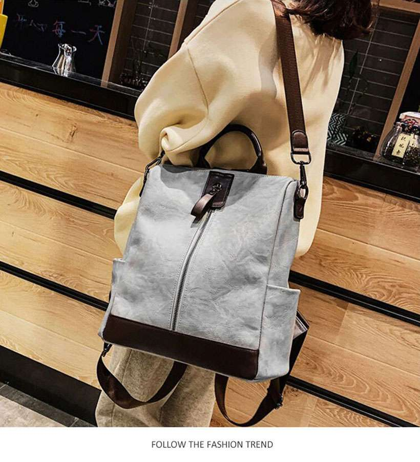 Women High-Quality Multifunction Leather Backpack - Shop Electronics, Fashion, Beauty, Home & Garden & More @Nesavastore