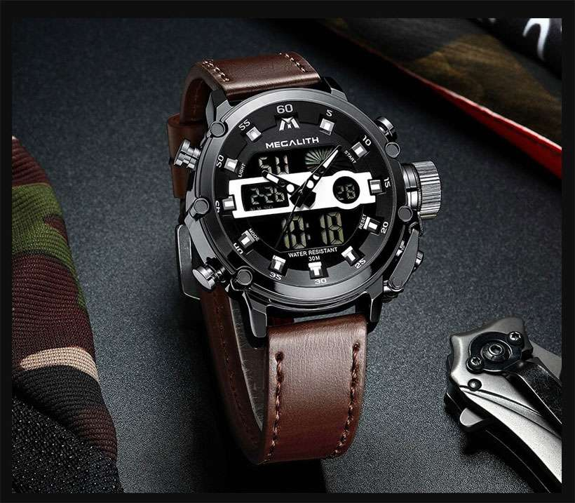 Men's Multifunction Waterproof Quartz Watch - Shop Electronics, Fashion, Beauty, Home & Garden & More @Nesavastore