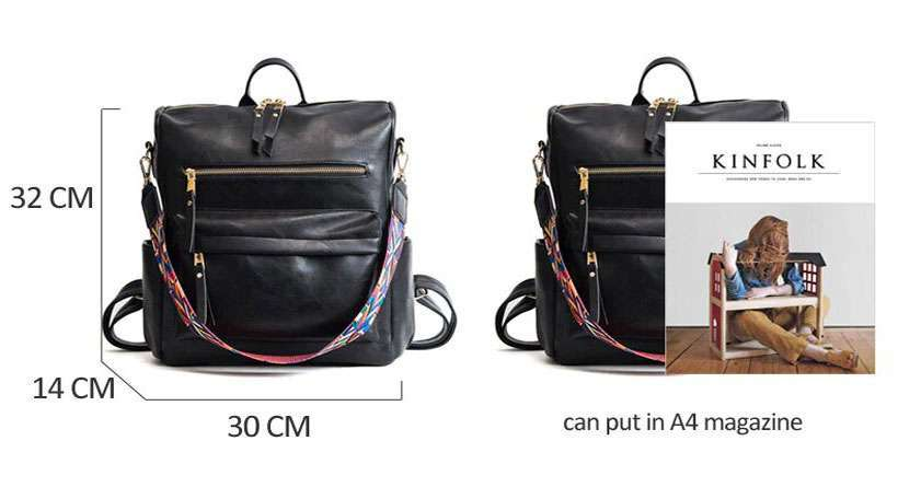 Women Leather Rucksack Knapsack Travel Backpack - Shop Electronics, Fashion, Beauty, Home & Garden & More @Nesavastore