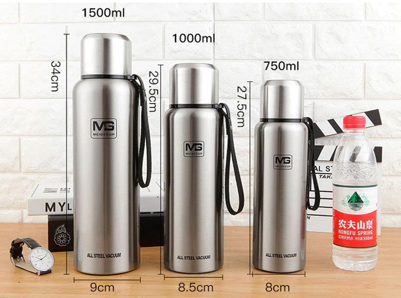 Large Capacity Stainless Steel Thermos Portable Vacuum Flask- Shop Electronics, Fashion, Beauty, Home & Garden & More @Nesavastore