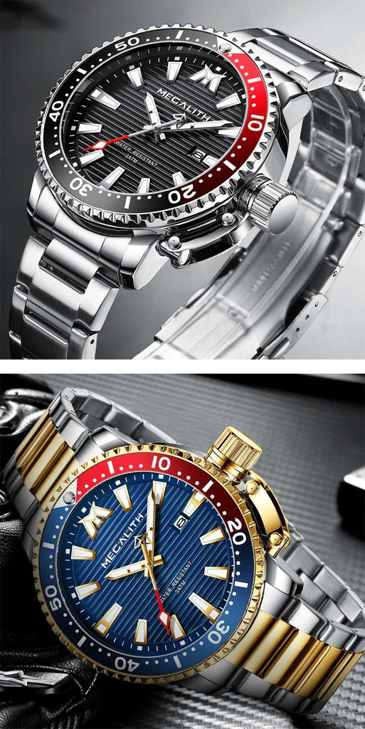 Men's 14k Gold Watches, Megalith Watches