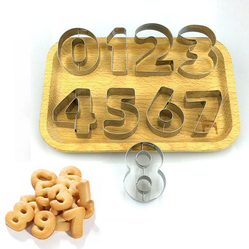 Hot Cookie Cutters Moulds 9PCSSet Puzzle Numbers - Nesavastore
