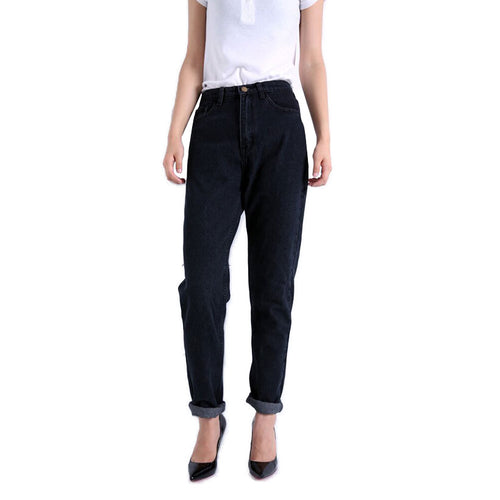 Women's Harem High Waist Slim Fit Jeans - Nesavastore
