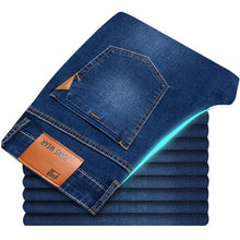 Load image into Gallery viewer, Men's Classic Stretch Slim Denim Pants - Fashion, Beauty, Home & Garden & More @Nesavastore