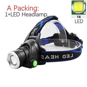 Waterproof Portable Head Led Flashlight - Nesavastore