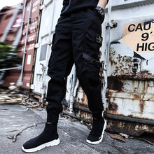 Load image into Gallery viewer, Men's Streetwear Ribbons Cotton Slim Joggers - Nesavastore