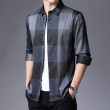 Load image into Gallery viewer, Men's Plaid Dress Shirts Long Sleeve Slim Fit Casual Top - Fashion, Beauty, Home & Garden & More @Nesavastore