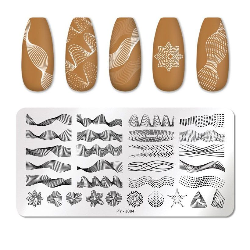 Nail Stamping Plates Flower Image Stencils Template - Fashion, Beauty, Home & Garden & More @Nesavastore
