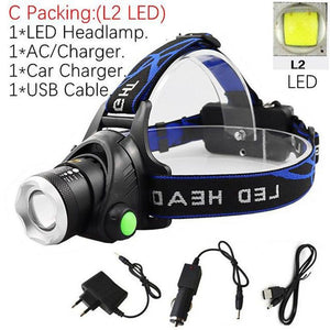 Waterproof Portable Head Led Flashlight - Fashion, Beauty, Home & Garden & More @Nesavastore