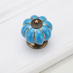 KAK Pumpkin Ceramic Handles 40mm Drawer Knobs - Nesavastore
