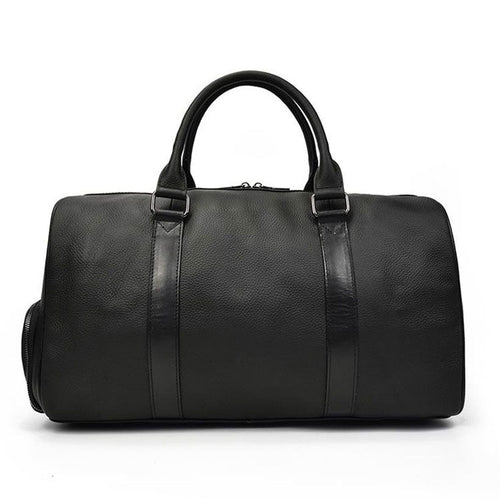 Leather Soft Cowhide Carry Hand Luggage Bag - Fashion, Beauty, Home & Garden & More @Nesavastore