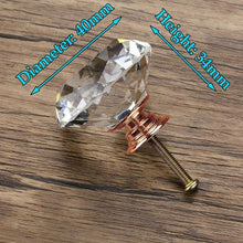 Load image into Gallery viewer, KAK 20-40mm Diamond Shape Design Crystal Glass Knobs - Nesavastore