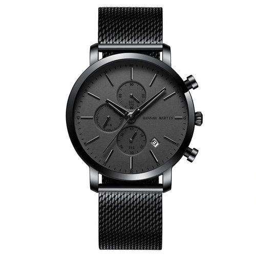 Men's Waterproof Stainless Steel Mesh Watches - Nesavastore