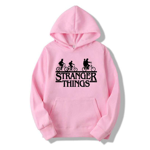 Men's Trendy Faces Stranger Things Hoodies - Nesavastore