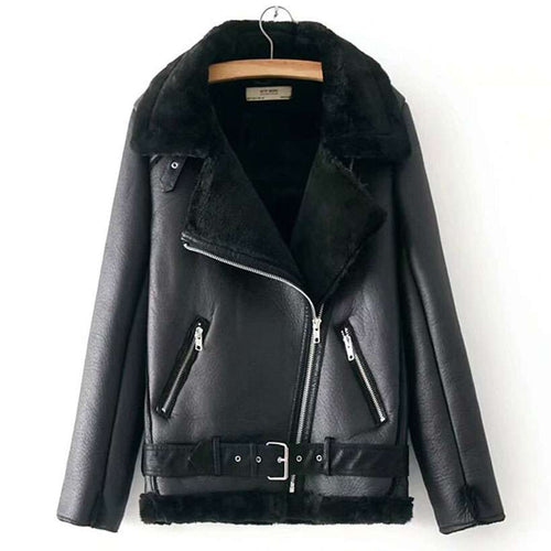 Women's Winter Motorcycle Velvet Jacket  -Shop Electronics, Fashion, Beauty, Home & Garden & More @Nesavastore