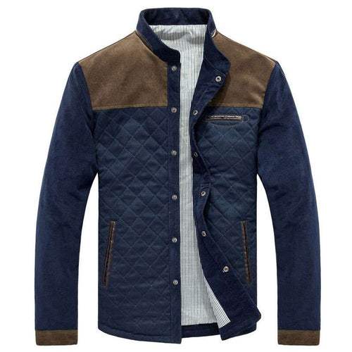 Men's Baseball Uniform Slim Casual Coat Jacket - Nesavastore