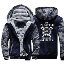 Load image into Gallery viewer, Men's Coat Warm Odin Vikings Hoodies - Nesavastore