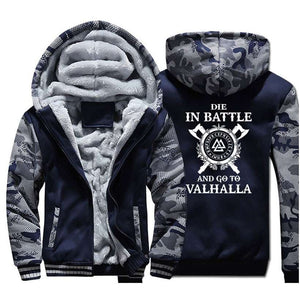 Men's Coat Warm Odin Vikings Hoodies - Nesavastore