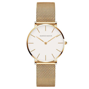 Women's Stainless Steel Band Waterproof Watches - Nesavastore