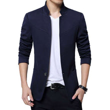 Load image into Gallery viewer, Men's Stand Collar Slim Fit Blazer - Shop Electronics, Fashion, Beauty, Home & Garden & More @Nesavastore