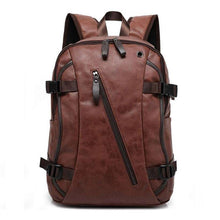 Load image into Gallery viewer, Men's Oil Wax Leather Casual Backpack - Nesavastore