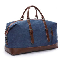 Load image into Gallery viewer, Large Capacity Canvas Leather Vintage Travel Duffle Bag  -Shop Electronics, Fashion, Beauty, Home & Garden & More @Nesavastore