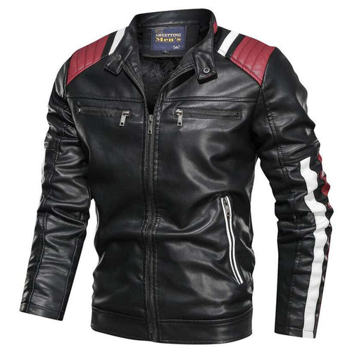 Men's Motorcycle Slim Leather Jacket  -Shop Electronics, Fashion, Beauty, Home & Garden & More @Nesavastore